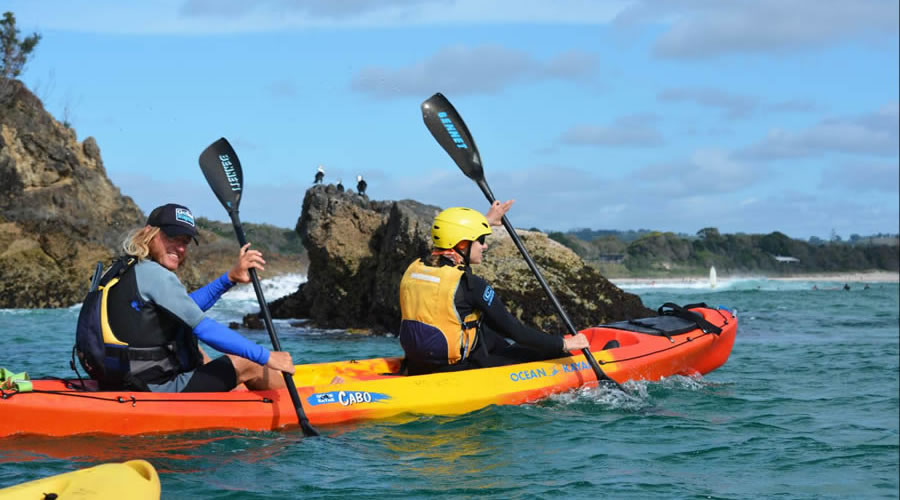 paddle experts with Go Sea Kayak Byron Bay