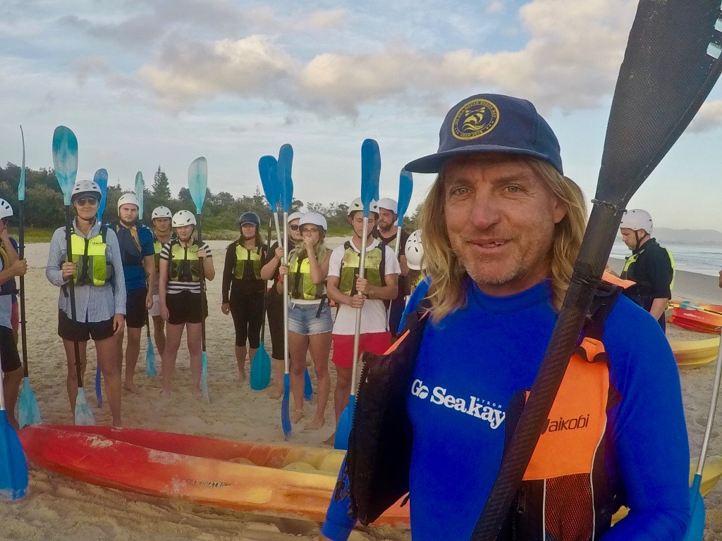 Go Sea Kayak Byron Bay - Dougie the Dolphin Whisperer